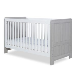 Ickle Bubba Pembrey Cot Bed & Dresser - Ash Grey & White 14