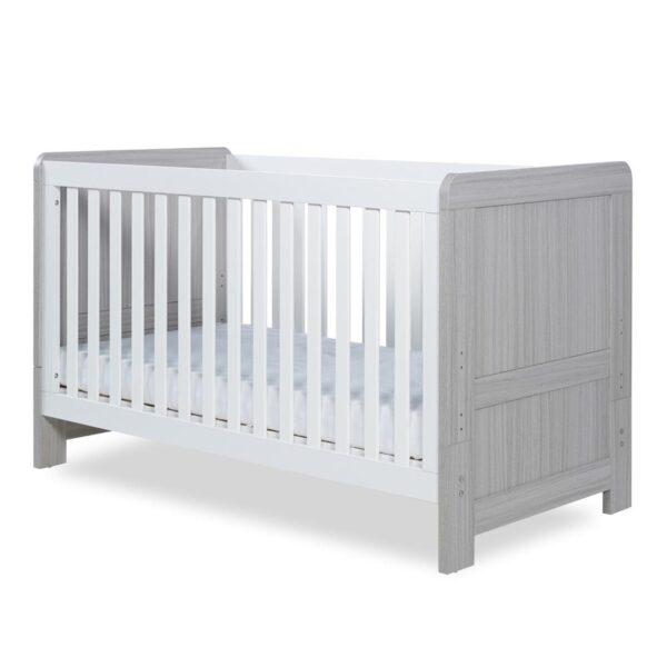 Ickle Bubba Pembrey Cot Bed & Dresser - Ash Grey & White 7