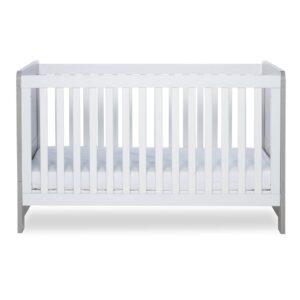 Ickle Bubba Pembrey Cot Bed & Dresser - Ash Grey & White 10