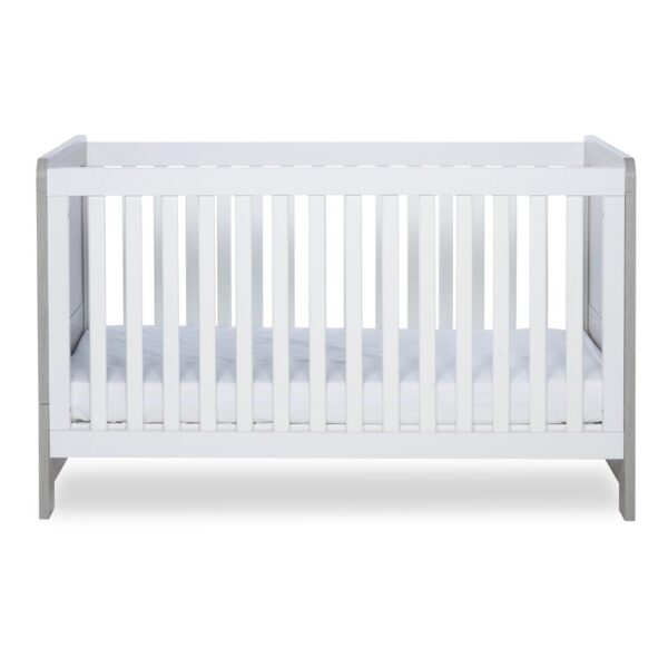 Ickle Bubba Pembrey Cot Bed & Dresser - Ash Grey & White 3