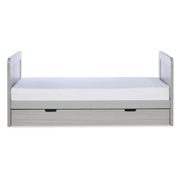 Ickle Bubba Pembrey Cot Bed & Under Bed Drawer - Ash Grey 2