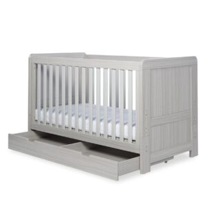 Ickle Bubba Pembrey Cot Bed & Under Bed Drawer - Ash Grey 14