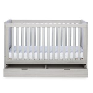 Ickle Bubba Pembrey Cot Bed & Under Bed Drawer - Ash Grey 8