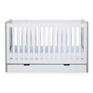 Ickle Bubba Pembrey Cot Bed, Under Drawer and Changing Unit - Ash Grey & White 10
