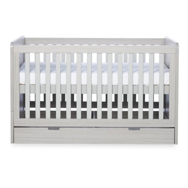 Ickle Bubba Pembrey Cot bed, Under Drawer & Tall Chest - Ash Grey 3