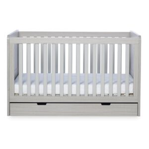 Ickle Bubba Pembrey Cot bed, Under Drawer & Tall Chest - Ash Grey 7