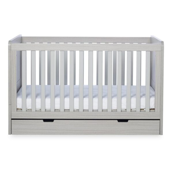 Ickle Bubba Pembrey Cot bed, Under Drawer & Tall Chest - Ash Grey 1