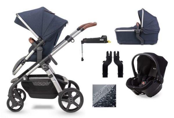 Silver Cross Wave 2020 Car Seat & Base Bundle - Indigo 1