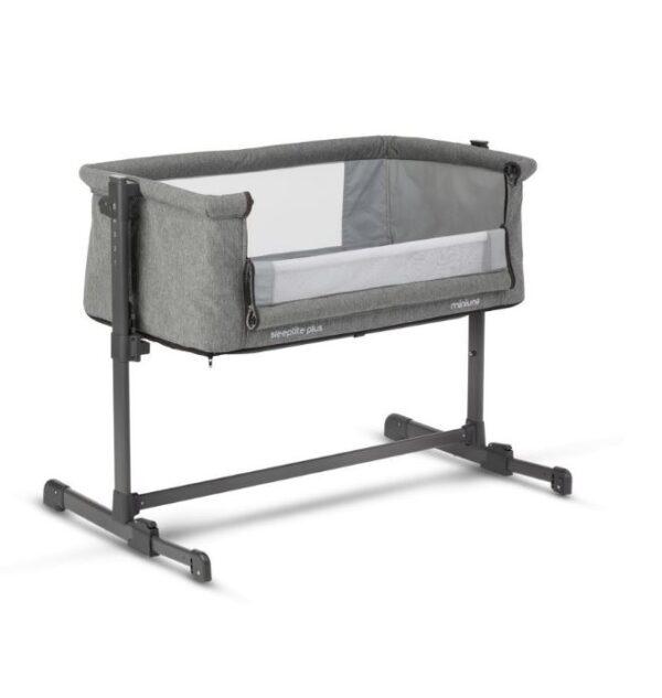 Miniuno Sleeptite Plus Co-Sleeping Crib - Grey 2