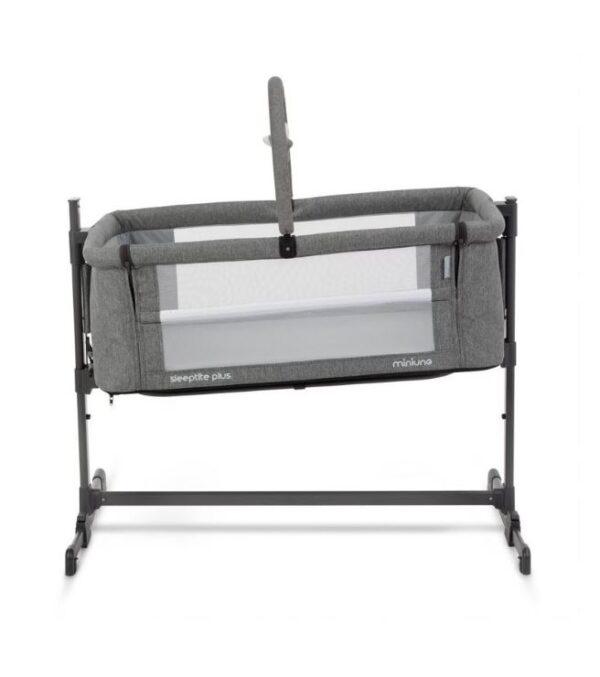 Miniuno Sleeptite Plus Co-Sleeping Crib - Grey 5