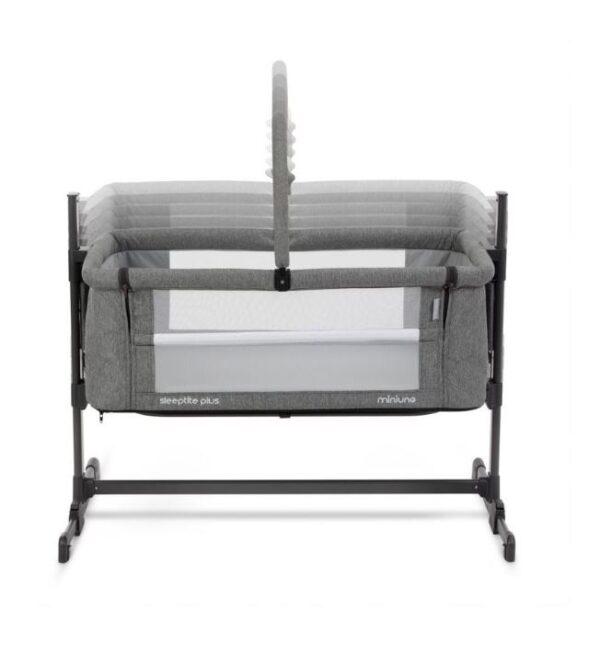 Miniuno Sleeptite Plus Co-Sleeping Crib - Grey 4