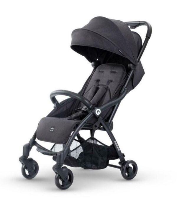 Miniuno TouchFold Stroller - Black Herringbone 5