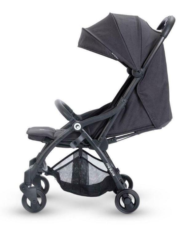 Miniuno TouchFold Stroller - Black Herringbone 4