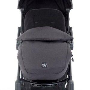 Miniuno TouchFold Stroller - Black Herringbone 9