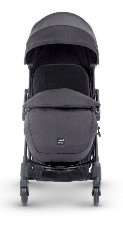 Miniuno TouchFold Stroller - Black Herringbone 2