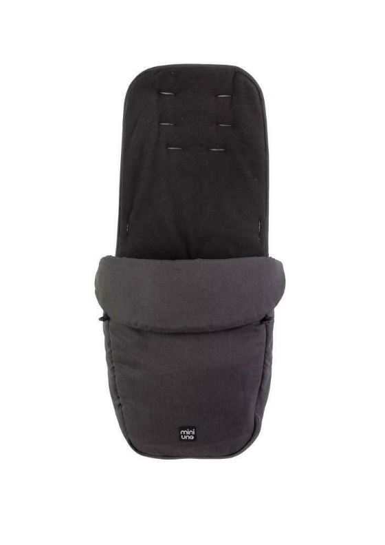 Miniuno TouchFold Stroller - Black Herringbone 6