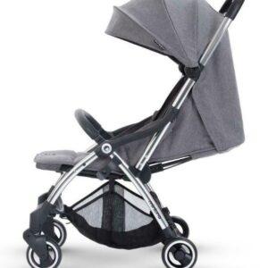 Miniuno Touchfold Stroller - Grey Herringbone 12