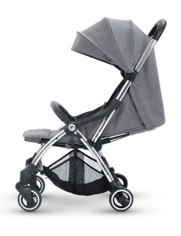 Miniuno Touchfold Stroller - Grey Herringbone 5