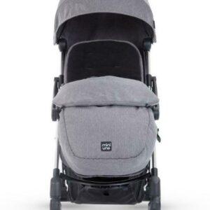 Miniuno Touchfold Stroller - Grey Herringbone 9