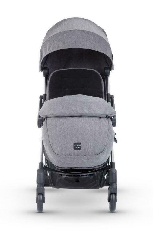 Miniuno Touchfold Stroller - Grey Herringbone 2