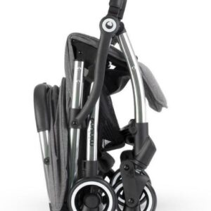 Miniuno Touchfold Stroller - Grey Herringbone 10