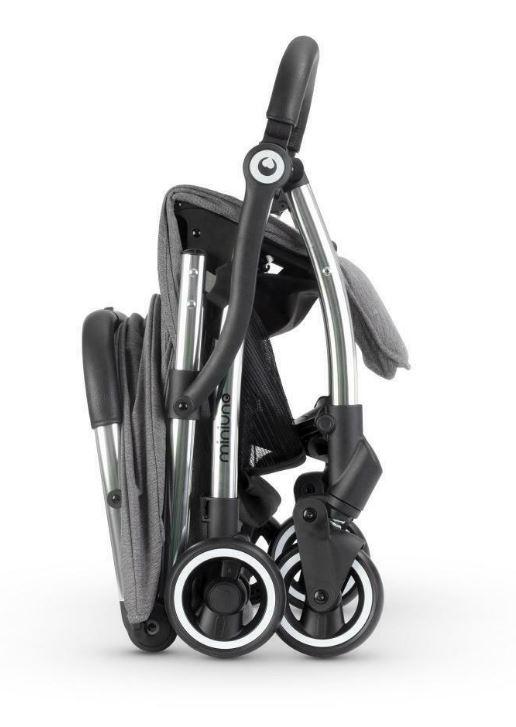 Miniuno Touchfold Stroller - Grey Herringbone 3